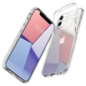 iPhone 12 mini silikoonist kaaned Spigen Liquid Crystal Clear 6