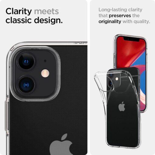 iPhone 12 mini silikoonist kaaned Spigen Liquid Crystal Clear 8