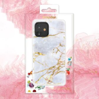 iPhone 12 mini umbris Kingxbar Marble Seeria helesinine 4
