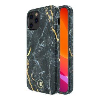 iPhone 12 mini umbris Kingxbar Marble Seeria must 1
