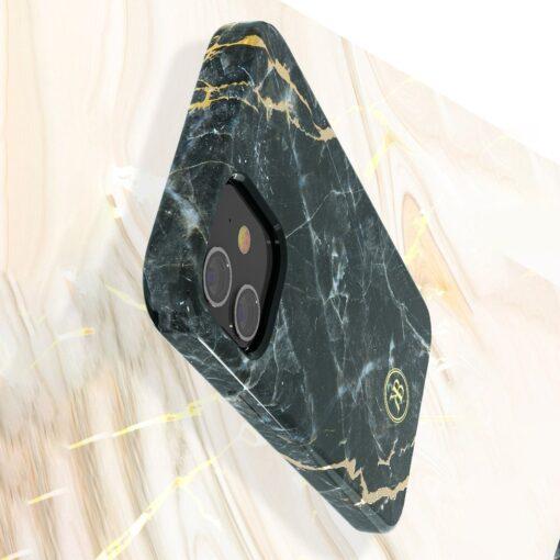 iPhone 12 mini umbris Kingxbar Marble Seeria must 3