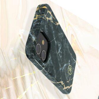 iPhone 12 mini umbris Kingxbar Marble Seeria sinine 3