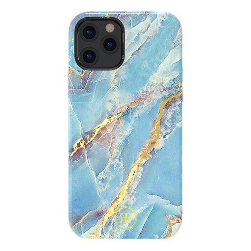 iPhone 12 mini umbris Kingxbar Marble Seeria sinine