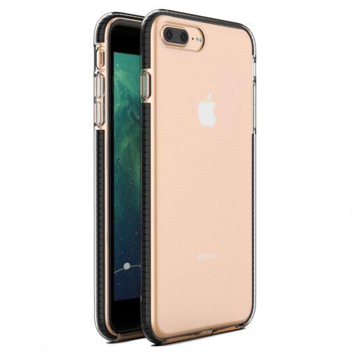 iPhone 8 Plus ja 7 Plus silikoonist umbris laikivate servadega must