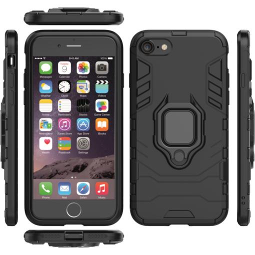 iPhone SE 2020 iPhone 8 ja iPhone 7 umbris Ring Armor must 5