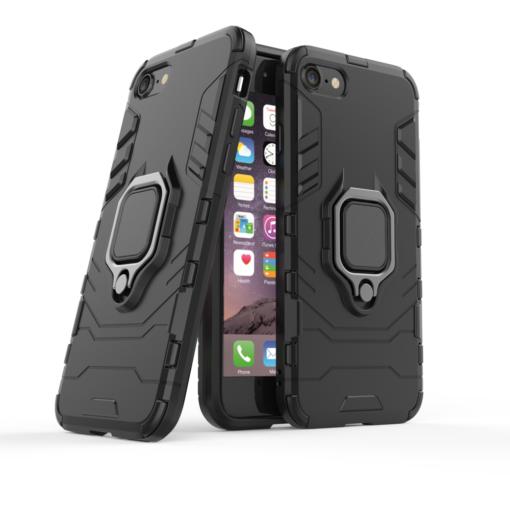 iPhone SE 2020 iPhone 8 ja iPhone 7 umbris Ring Armor must