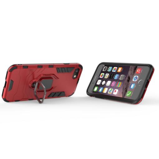 iPhone SE 2020 iPhone 8 ja iPhone 7 umbris Ring Armor punane 4
