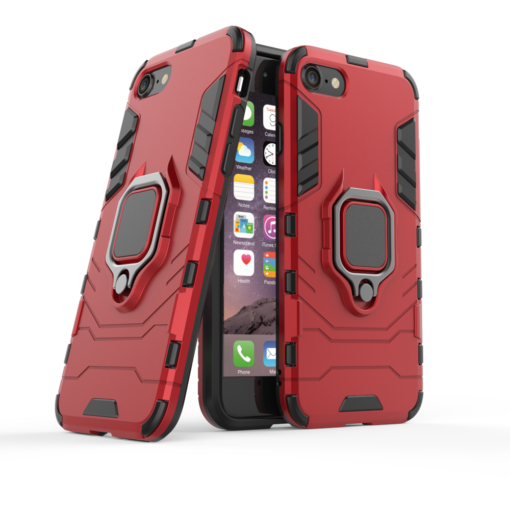 iPhone SE 2020 iPhone 8 ja iPhone 7 umbris Ring Armor punane