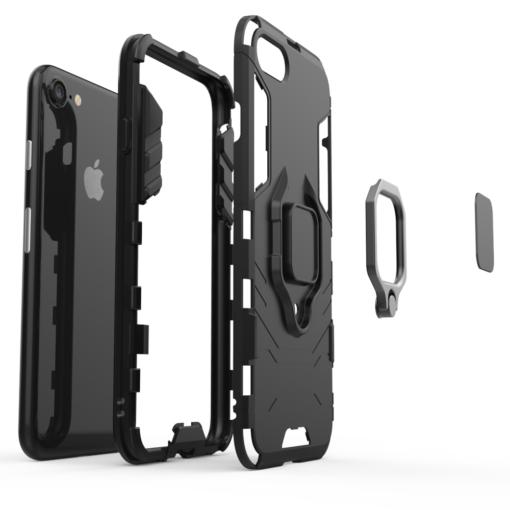 iPhone SE 2020 iPhone 8 ja iPhone 7 umbris Ring Armor punane 6