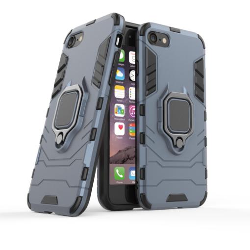 iPhone SE 2020 iPhone 8 ja iPhone 7 umbris Ring Armor sinine