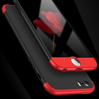 iPhone SE 5S 5 plastikust 360 umbris must 1