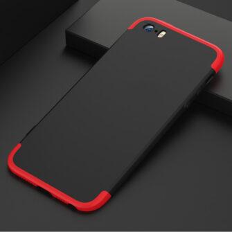 iPhone SE 5S 5 plastikust 360 umbris must 3