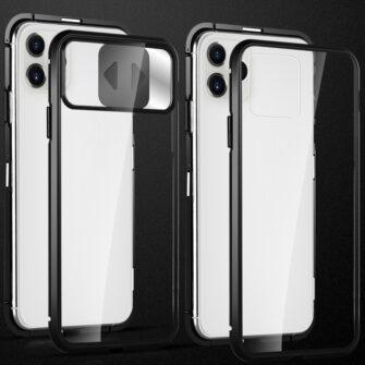 iPhone SE2 8 7 kaamera kaitsega magnetiga 360 umbris 2
