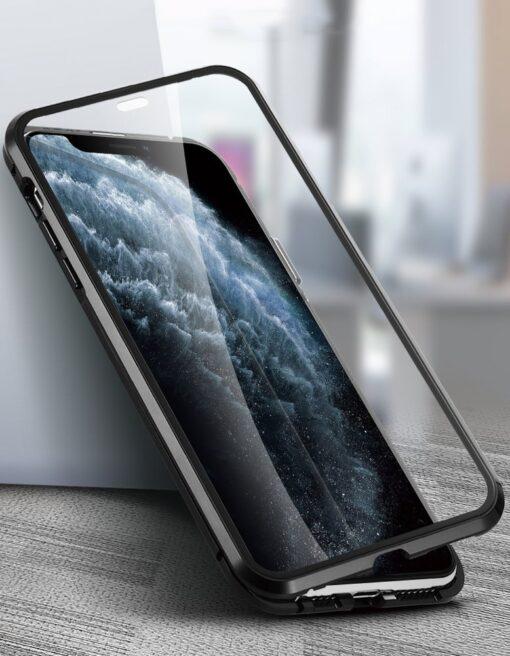 iPhone SE2 8 7 kaamera kaitsega magnetiga 360 umbris 6