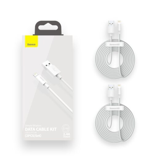 2x Lightning juhe iPhonele 1.5m Baseus TZCALZJ 02 valge 4