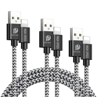 5x USB – iPhone laadija juhe lightning Dux Ducis 2x 1m 2x 2m 1x 3m 2A