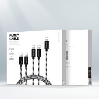 5x USB – iPhone laadija juhe lightning Dux Ducis 2x 1m 2x 2m 1x 3m 2A 4