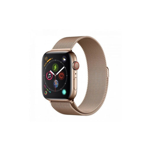 Devia rihm Elegant Milanese Apple Watchile 40mm 38mm kuld 1