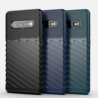 Samsung S10 Plus tugev umbris silikoonist must 11