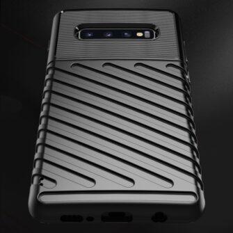 Samsung S10 Plus tugev umbris silikoonist must 6