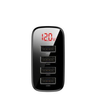 Seinalaadija 4x USB Mirror Lake Baseus 30W 6A CCJMHB B01 must 2