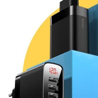 Seinalaadija 4x USB Mirror Lake Baseus 30W 6A CCJMHB B01 must 7