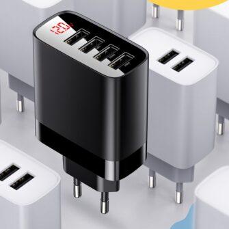 Seinalaadija 4x USB Mirror Lake Baseus 30W 6A CCJMHB B01 must 9
