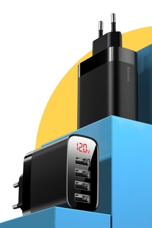 Seinalaadija 4x USB Mirror Lake Baseus 30W 6A CCJMHB B02 valge 7
