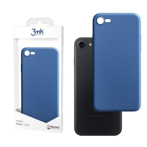 apple iphone 7 8 SE 2020 kaaned silikoonist 3mk blueb