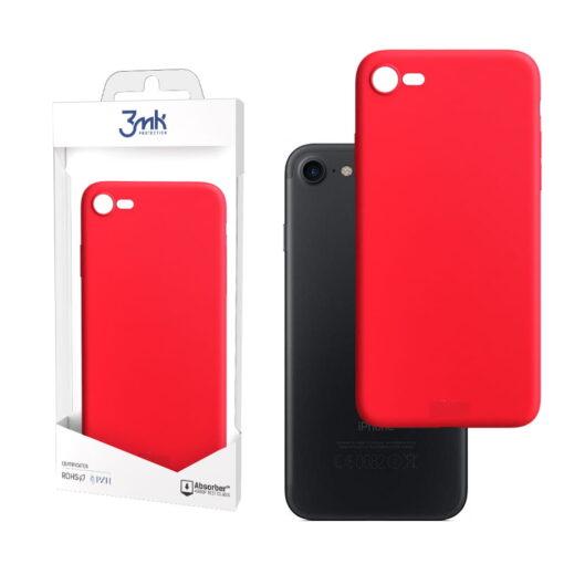apple iphone 7 8 SE 2020 kaaned silikoonist 3mk punane