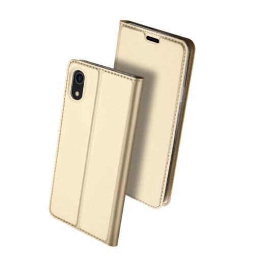 iPhone XR kaaned DUX DUCIS Skin Pro Bookcase kuldne 1