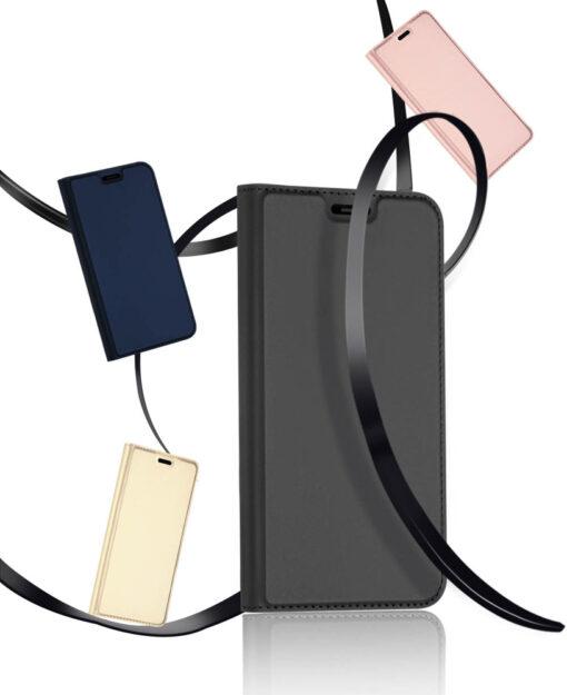 iPhone XR kaaned DUX DUCIS Skin Pro Bookcase kuldne 15