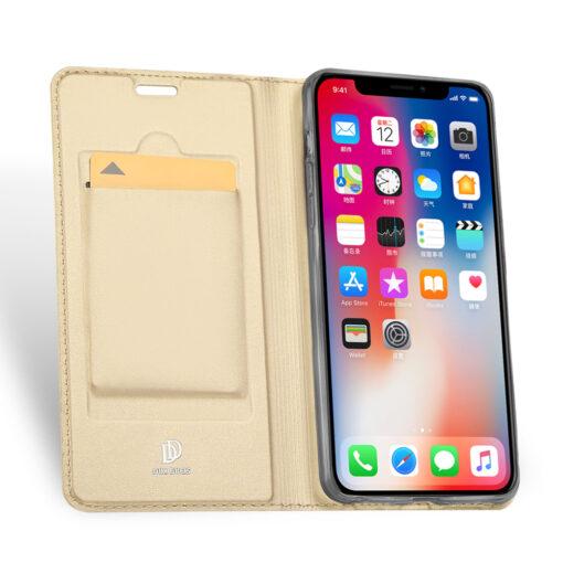 iPhone XR kaaned DUX DUCIS Skin Pro Bookcase kuldne 2