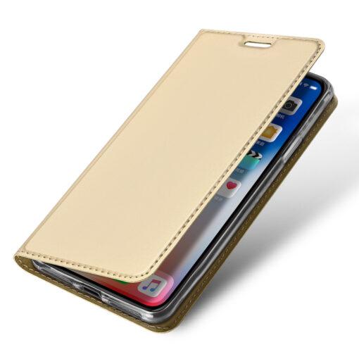 iPhone XR kaaned DUX DUCIS Skin Pro Bookcase kuldne 3