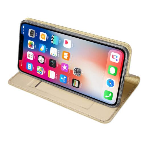 iPhone XR kaaned DUX DUCIS Skin Pro Bookcase kuldne 4