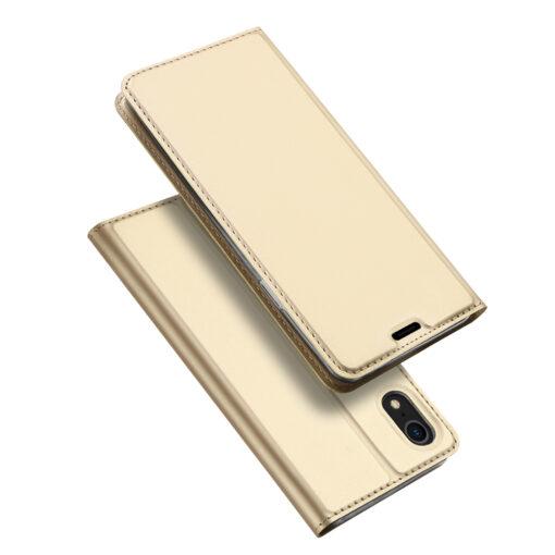 iPhone XR kaaned DUX DUCIS Skin Pro Bookcase kuldne