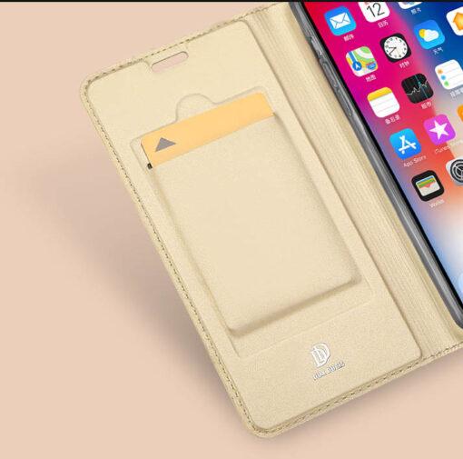 iPhone XR kaaned DUX DUCIS Skin Pro Bookcase kuldne 8