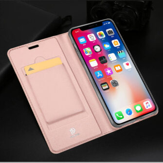 iPhone XR kaaned DUX DUCIS Skin Pro Bookcase roosa 19