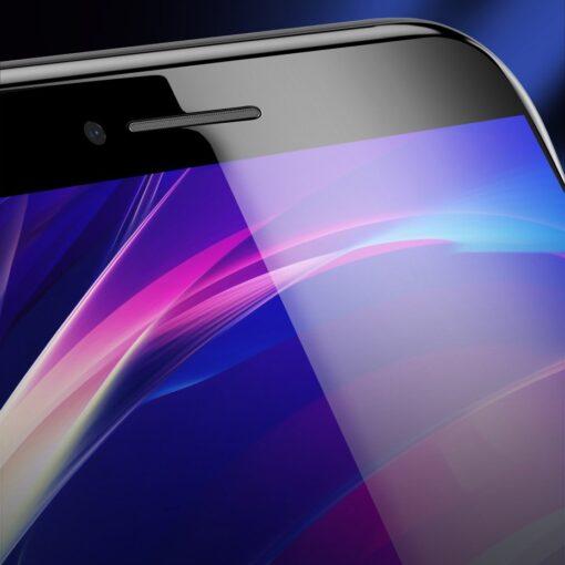 2tk iPhone SE 2020 87 kaitseklaas taisekraan sinise valguse kaitsega must 11
