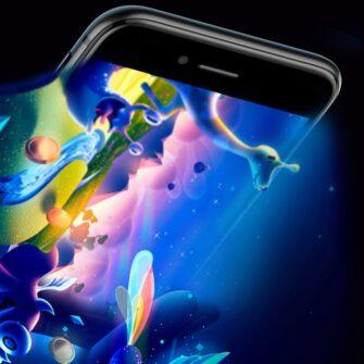 2tk iPhone SE 2020 87 kaitseklaas taisekraan sinise valguse kaitsega must 12