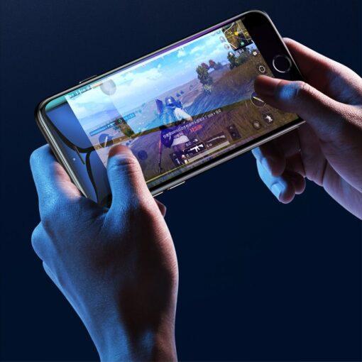 2tk iPhone SE 2020 87 kaitseklaas taisekraan sinise valguse kaitsega must 14