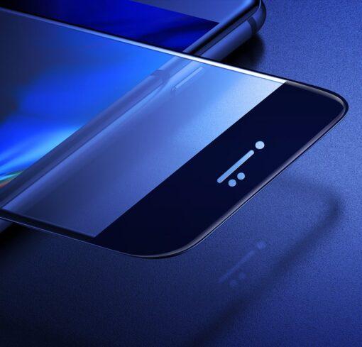 2tk iPhone SE 2020 87 kaitseklaas taisekraan sinise valguse kaitsega must 17