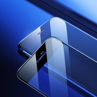 2tk iPhone SE 2020 87 kaitseklaas taisekraan sinise valguse kaitsega must 18
