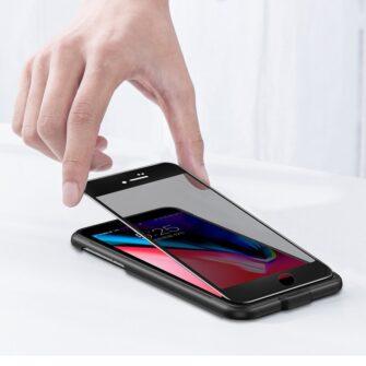 2tk iPhone SE 2020 87 kaitseklaas taisekraan sinise valguse kaitsega must 19