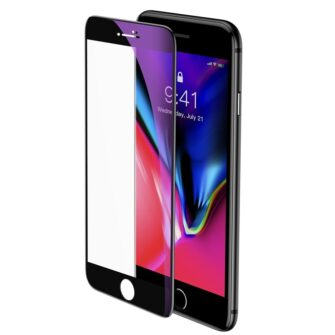 2tk iPhone SE 2020 87 kaitseklaas taisekraan sinise valguse kaitsega must 2