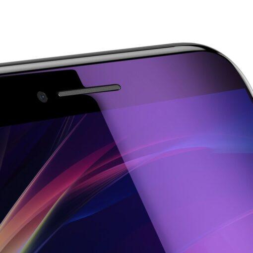 2tk iPhone SE 2020 87 kaitseklaas taisekraan sinise valguse kaitsega must 4