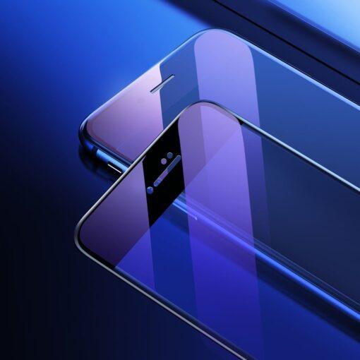 2tk iPhone SE 2020 87 kaitseklaas taisekraan sinise valguse kaitsega must 6