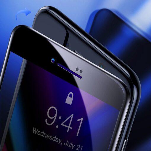 2tk iPhone SE 2020 87 kaitseklaas taisekraan sinise valguse kaitsega must 7
