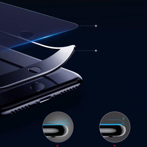 2tk iPhone SE 2020 87 kaitseklaas taisekraan sinise valguse kaitsega must 8