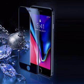 2tk iPhone SE 2020 87 kaitseklaas taisekraan sinise valguse kaitsega must 9